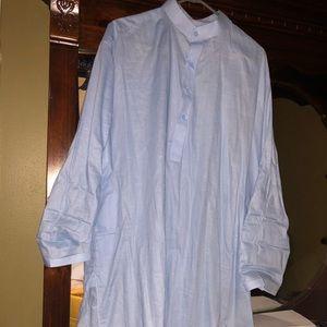 Blue Dress Shirt pockets